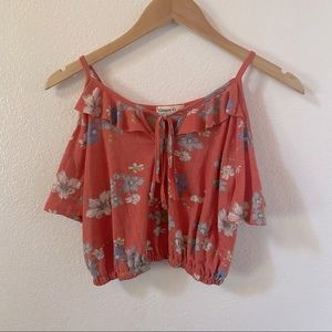 Ginger g floral crop top size small